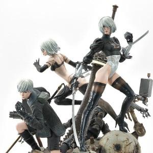 NieR:Automata - 1/4 Scale 2B, 9S, A2 Statue Deluxe Version