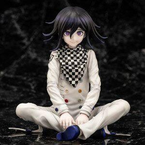 Kokichi is sitting cross-legged